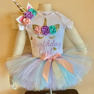 Unicorn birthday party tutu